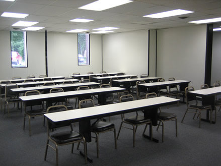 Meeting Room with Tables and Chairs